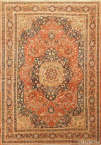 ANTIQUE PERSIAN TABRIZ RUG 12 ft 10 in x 9 ft 4 in