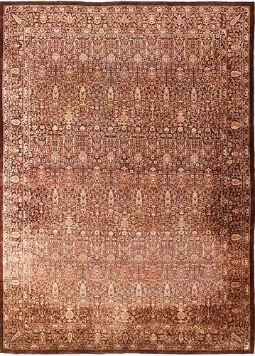 MODREN INDIAN RUG, 13 ft 10 in x 9 ft 10 in