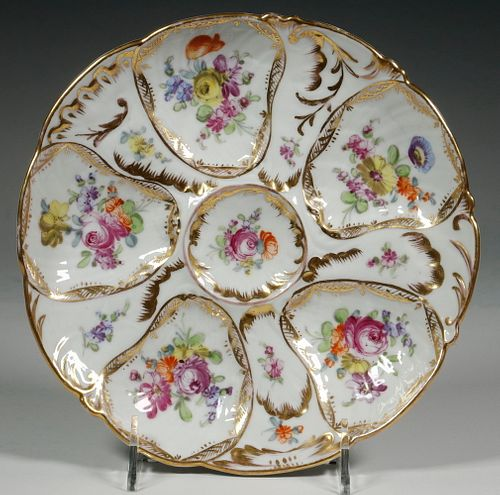 C.S.M. CARLSBAD HAND PAINTED OYSTER PLATE