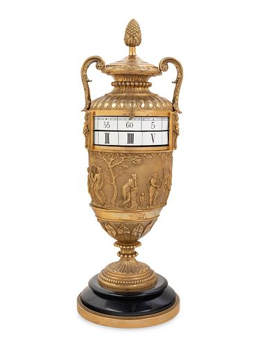 A Louis XVI Style Gilt Bronze Annular Clock