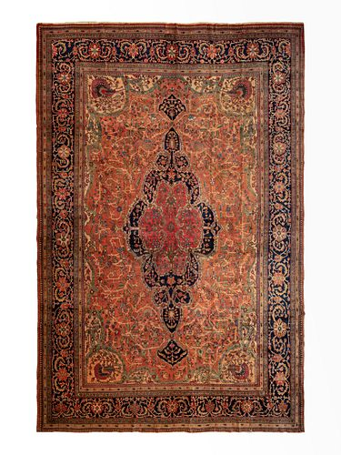 A Feraghan Sarouk Wool Rug