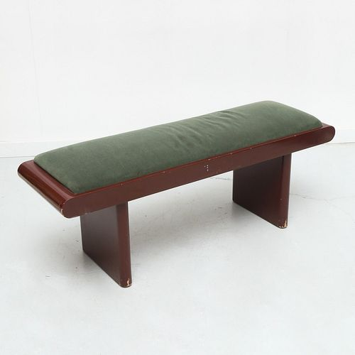 Donald Deskey style Art Deco lacquered bench