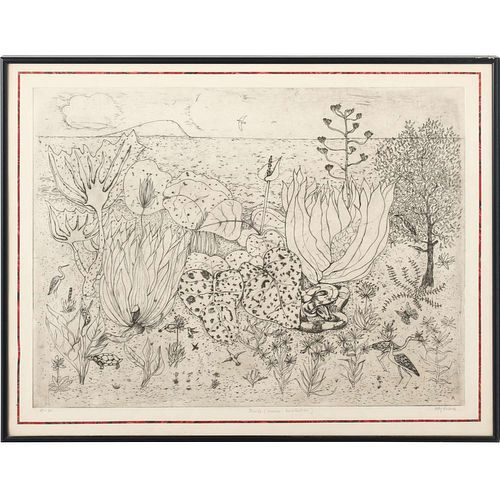 Dolf Rieser, large etching