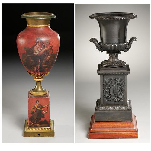Continental Neo-Classical and empire style urns
