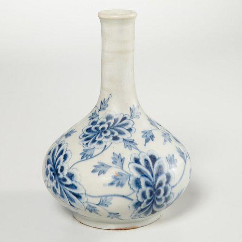 Korean porcelain blue and white bottle vase