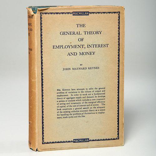 Keynes, Theory of Employment 1st ed w/ rare jacket