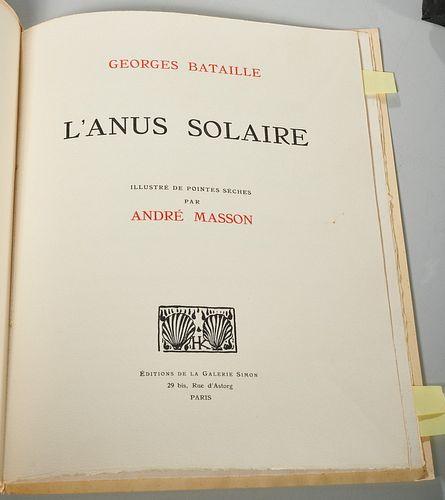 [Masson] Georges Bataille, L'Anus Solaire, signed