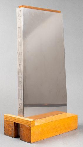 """Lawrence Weiner """"& Onwards"""" Modern Vase"""