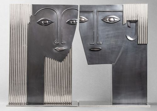 Hagenauer Attrib. Art Deco Bust Sculptures, Pair