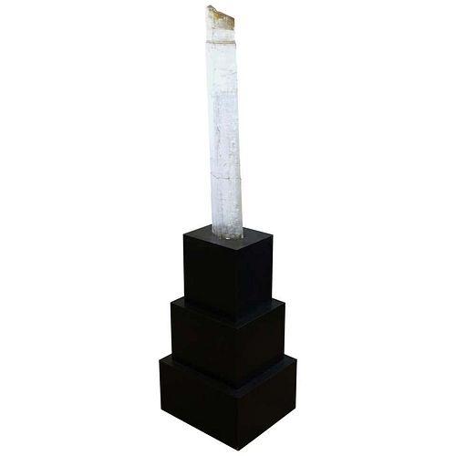 Large Illuminated Kunzite Crystal Specimen
