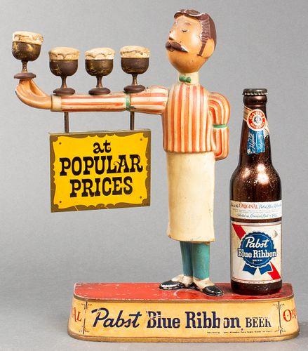 Vintage Pabst Blue Ribbon Bartender Advertisement