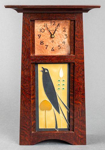 Schlabaugh & Sons Art & Crafts Mantel Clock