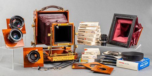 Wisner 4 x 5 Technical Field Camera w Accessories