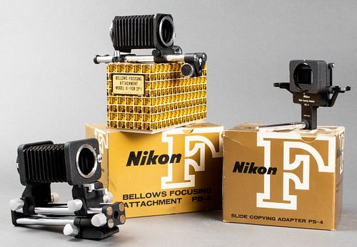 Nikon F-Mount Attachments, Group of 3