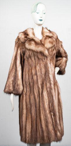 Fawn Mink Fur Coat