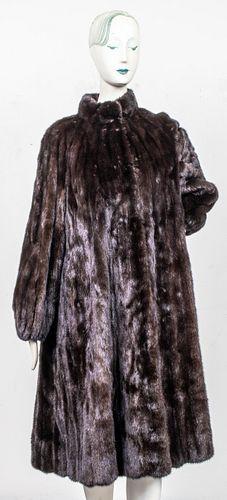 Jerry Sorbara Brown Mink Fur Coat