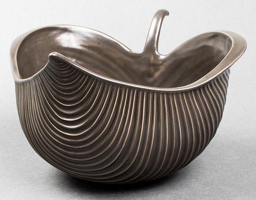 """Vintage Jonathan Adler """"Leaf"""" Stoneware Bowl"""