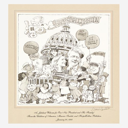 [Children's & Illustrated] Sendak, Maurice, A Jubilant Welcome for Our New President and His Family!