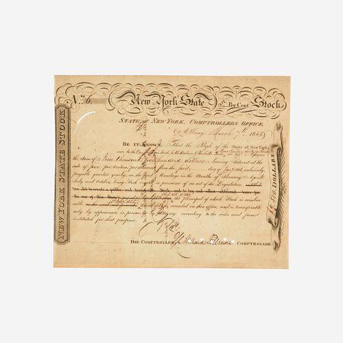 [Presidential] Fillmore, Millard, Printed Document, signed