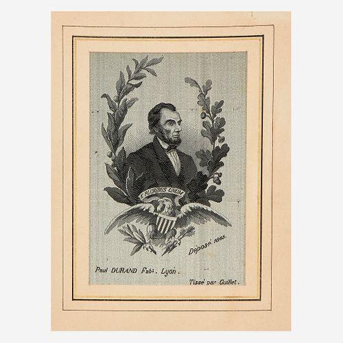 [Presidential] Lincoln, Abraham, Silk Memorial Portrait