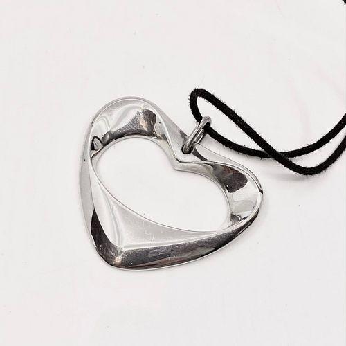 Georg Jensen Sterling Silver Heart Pendant #152 by Henning Koppel