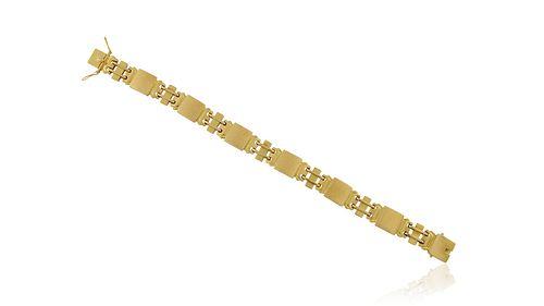 Vintage Georg Jensen 18kt Gold Bracelet #287 by Oscar Gundlach-Pedersen