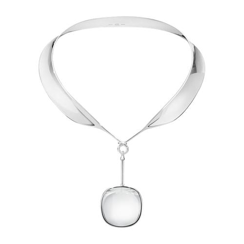 Georg Jensen Dew Drop Neck Ring #160 & Rock Crystal Pendant #132