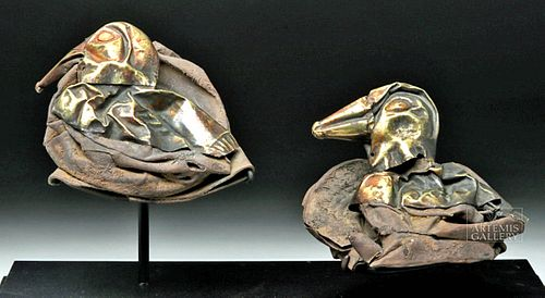 Sican Silver Birds w/ Gold Detailing (pr)