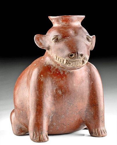 Colima Redware Dog Effigy Vessel Toothy Grin