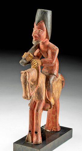 Yoruba Wooden Equestrian Figure