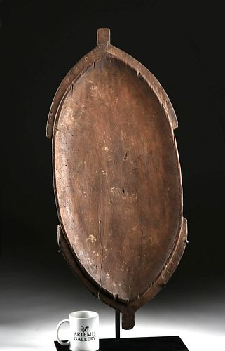 19th C. Vanuatu Shallow Wood Bowl - Turtle Form