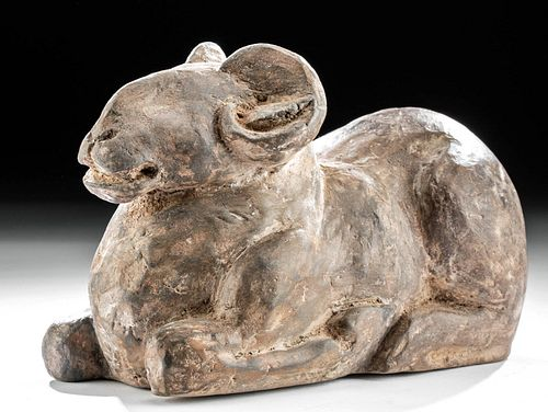 Chinese Han Terracotta Recumbent Ram, TL Tested