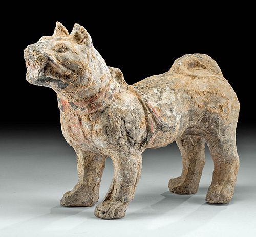 Chinese Han Dynasty Terracotta Dog Figure