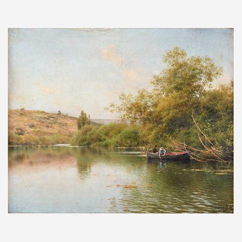 Emilio Sanchez-Perrier (Spanish, 1855–1907), , La Rivière, Environs de Santiponce