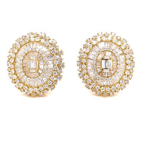 18k Diamond Rosetta Earrings
