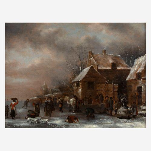 Nicolaes Molenaer (Dutch, B.C 1630–1676), , Ice Skating Rink