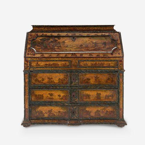 A Venetian Baroque Arte Povera Fall-Front Secretary, 18th century