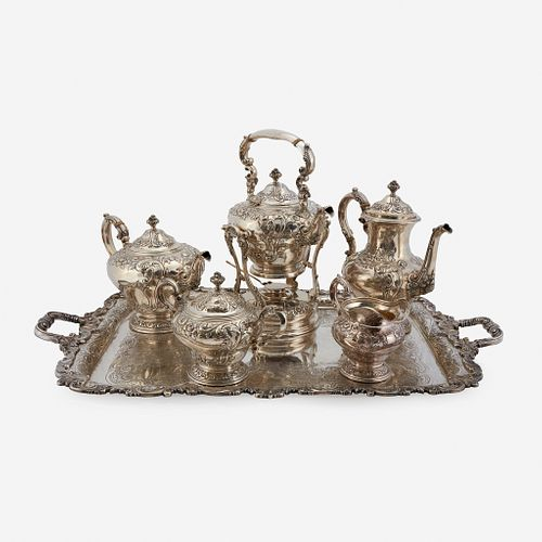A Canadian Sterling Silver Seven-Piece Tea and Coffee Service, Henry Birks & Sons, Montreal, late 19th/early 20th century