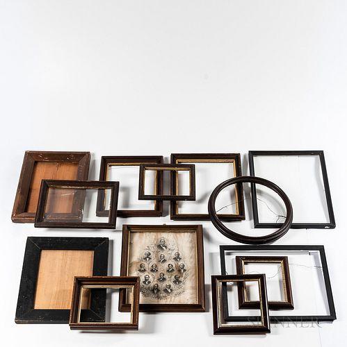 Group of Carved Walnut Frames