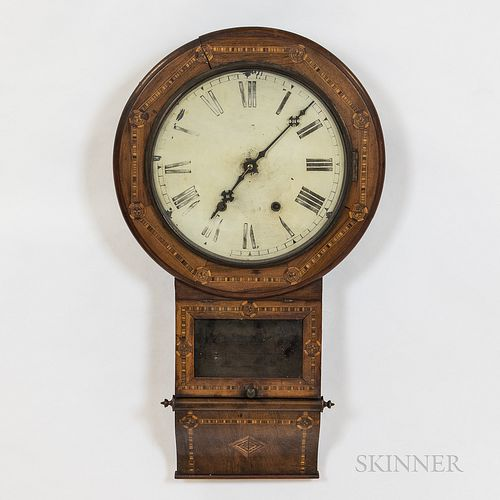 Jerome & Co. Inlaid Wall Clock