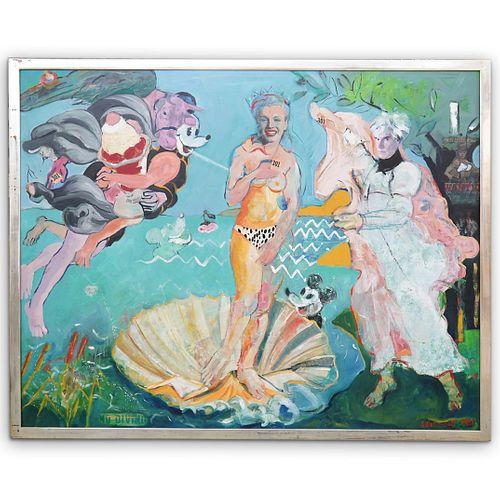 Judith Harvest Mixed Media Painting