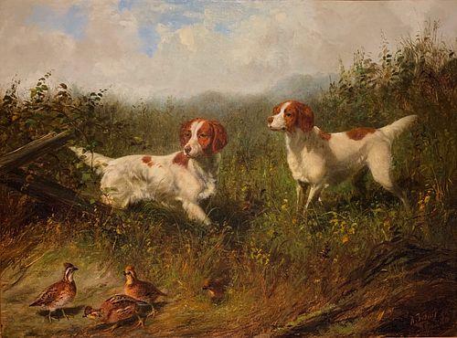 Arthur Fitzwilliam Tait (1819-1905) Setters on Quail