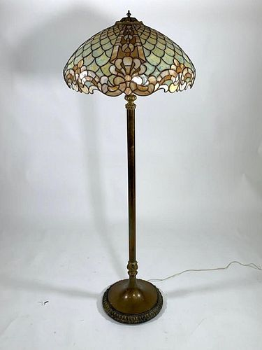 Duffner and Kimberly Leaded Glass Floor Lamp
