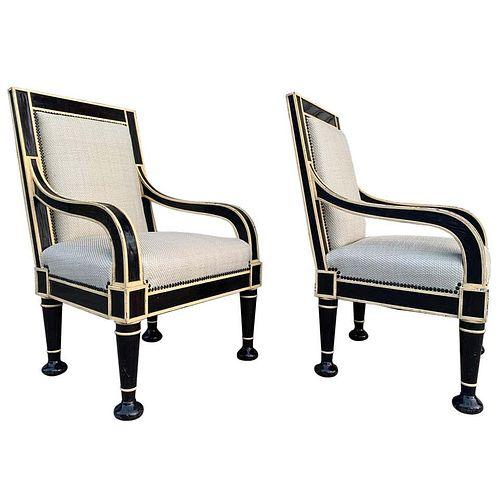 Pair of Oversized Armchairs by Hendrix-Allardyce