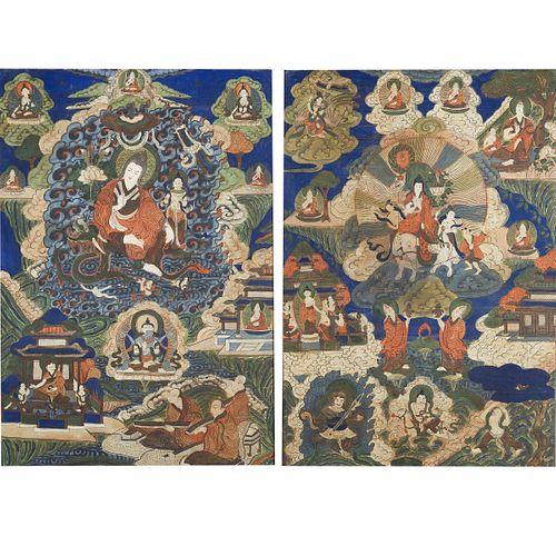 Pair of Thangkas of Tsongkhapa