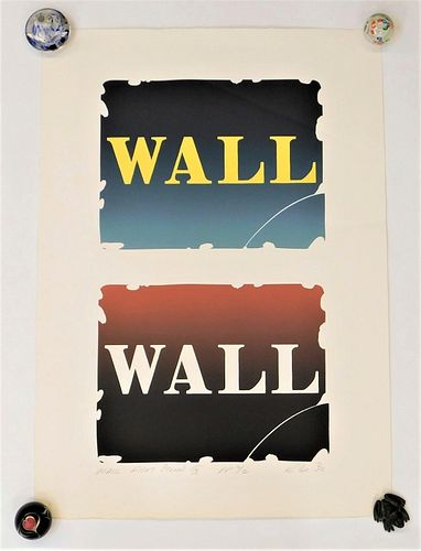 Robert Indiana Wall Right Stones III Lithograph