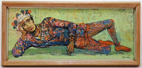 Gordon Steele Modernist Jester Painting
