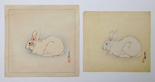 PR Ogata Gekko White Rabbit Woodblock Prints