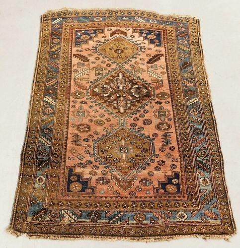 Middle Eastern Geometric Heriz Carpet Rug