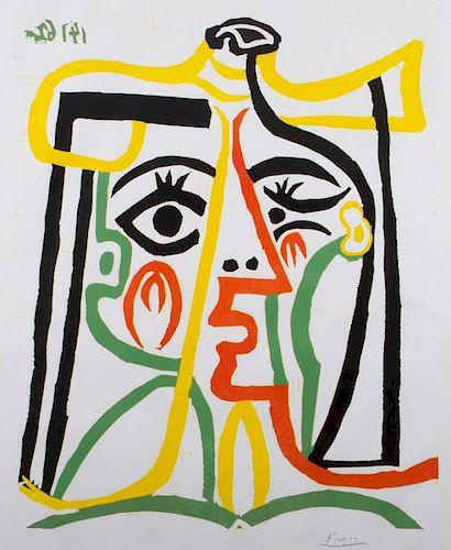 Pablo Picasso  'Portrait de Jacqueline au Chapeau de Paille'